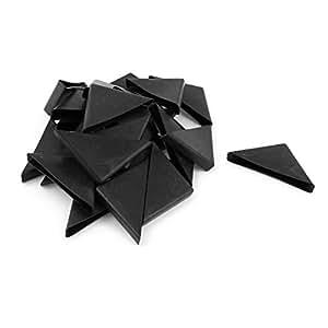 24 Pcs 8mm X 75mm Black Plastic Recessed Furniture Corner Protectors Kitchen Dining