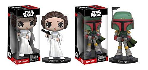Funko-Wobblers-Star-Wars-Princess-Leia-and-Boba-Fett-Toy-Action-Figure-Bobbleheads-2pc-BUNDLE