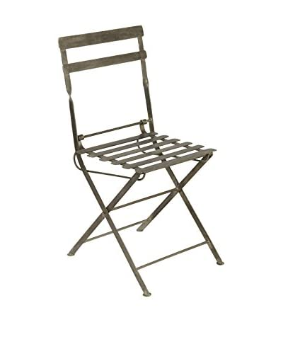 Jamie Young Slate Back Garden Chair, Matte Steel