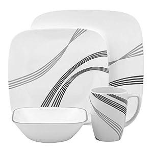 Corelle Square Urban Arc 16-Piece Dinnerware Set, Service for 4