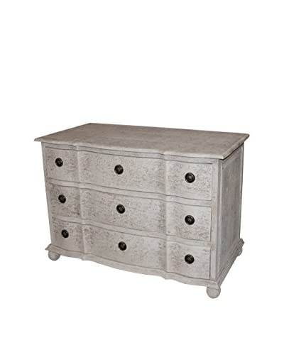 White x White Marseille Chest, Distressed Gray