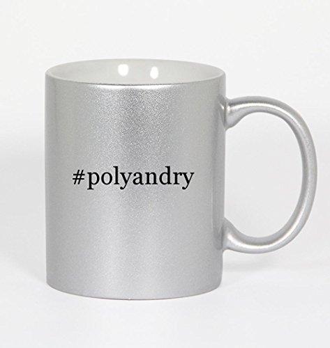 #polyandry - Funny Hashtag 11oz Silver Coffee Coffee Mug Cup
