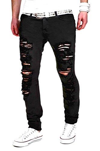 MT Styles Destroyed Jeans Slim Fit RJ-2094 [Schwarz, W32/L32] thumbnail