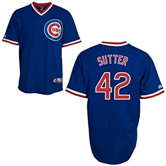 Bruce Sutter Chicago Cubs Cooperstown Replica Jersey by Majestic by Majestic