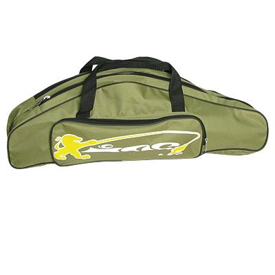 Como Green Nylon Shoulder Carry 3 Compartments