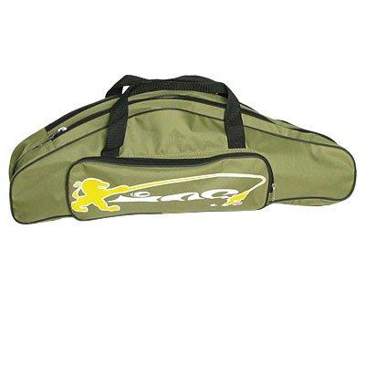 Como Green Nylon Shoulder Carry 3 Compartments