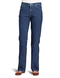 Lee Jeans Women's Relaxed Fit Straight Leg Jean, Premium Stonewash, 16 Small