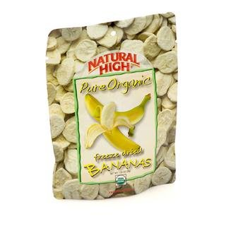 Natural High Pure Organic Freeze Dried Bananas