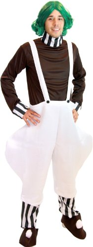 Willy Wonka Chocolate Factory Worker Adult Halloween Deluxe Costume