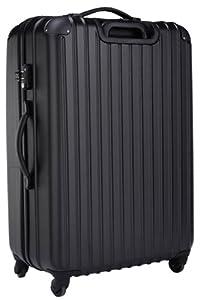 スーツケース・小型(1~3泊)・機内持ち込み・軽量・キャリーバッグ・キャリーケース・TSAロック搭載ABS+ポリカーボネート・ファスナータイプ「トラベル・ハウス」Travelhouse(S,ブラック)