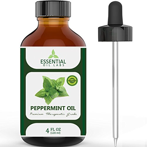 Peppermint Oil - 74% Off Flash Sale - Highest Quality Therapeutic Grade Backed by Medical Research - Largest 4 Oz Bottle with Free Premium Dropper - 100% Pure and Natural - Guaranteed Results - Essential Oil Labs