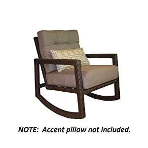 Lawley Textured Outdoor Rocking Chair Patio Rocking Chairs P