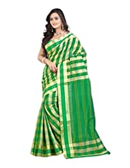 Mimosa Women Cotton Silk Kanjivaram Saree (Ap-7010-Cheks-Green _Green _Free Size)