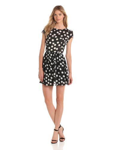 Glamorous Women's Sweet Mixed Dress, Black/White Shapes, X-Small
