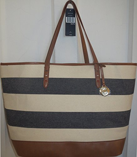 Tommy Hilfiger Handbag Stripe Tote Bag Canvas Navy XXXL