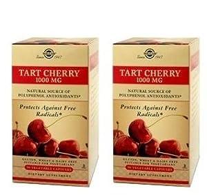Solgar - Tart Cherry 1000 Mg Vegetable Capsules 90 -2 Boxes
