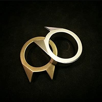Homeout 2pack Multi-Use Alloy Steel Self Defence Survival Tool Ring - Adorable Cat Ear Shape by Homeout