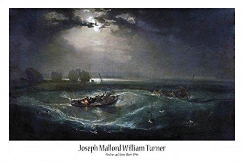 Set: Joseph William Turner, Fischer Auf Dem Meer, 1796 Poster (91x61 cm) inklusive 1x 1art1® Collection Poster