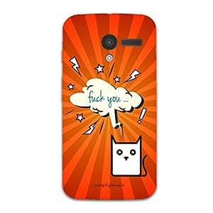 Designer Phone Covers - Moto X-cat-fuck-you