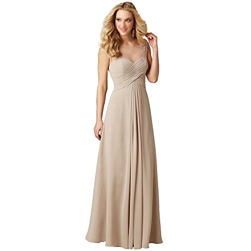 720afb26107 Peony Scoop Neck Ruche Chiffon Bridesmaid Dress A-line Dress for Wedding  Party (4)