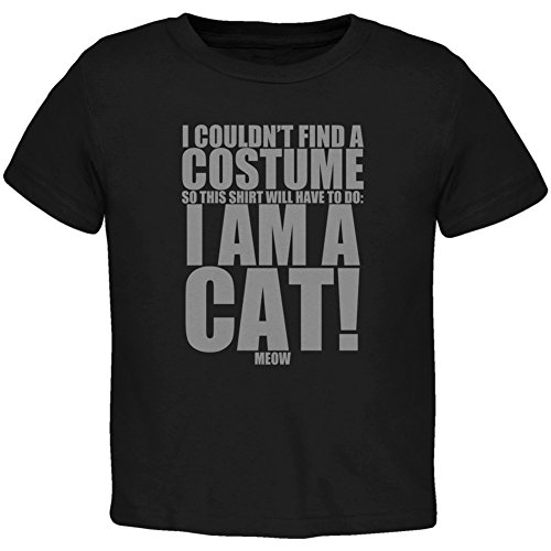 Halloween Cheap Cat Costume Black Toddler T-Shirt