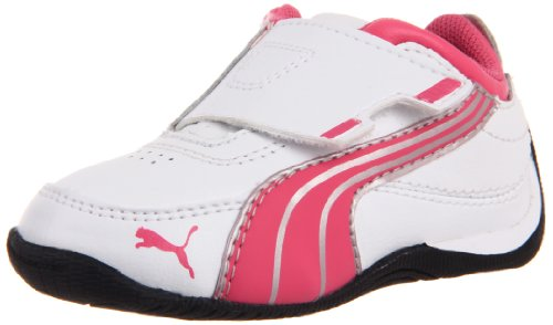 Puma Drift Cat 4 Alt Closure Kids Sneaker (Toddler/Little Kid),White/Hot Pink/Puma Silver,6 M US Toddler