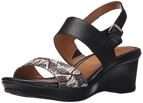 Naturalizer Women's Vibrant Wedge Sandal, Black/Multi, 9.5 M US (Naturalizer Womens Sandals compare prices)