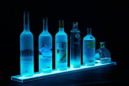 63 Inch Led Lighted Liquor Shelves Bottle Display , Liquor Bottle Shelf , 5 Ft 3 Inches Long Display With Remote Control