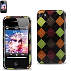 Protector Cover IPHONE 4S Snap On Hard Case Plaid Design 2DPC-IPHONE4S-250
