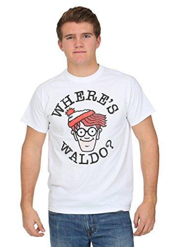 Freeze Mens mens Where's Waldo Face Men's T-Shirt Large
