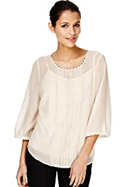 Autograph Lace Panelled Blouse with Camisole