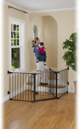 Kidco Auto Close Configure Gate In Black