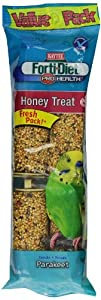 Kaytee Pet Products BKT100502940 Forti-Diet Pro Health Honey Parakeet Treat Stick, 7-Ounce