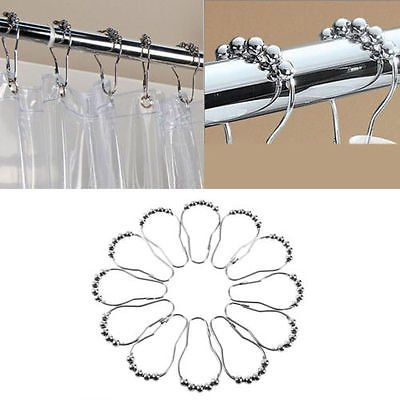 Barthroom Home Stainless Steel Shower Curtain Rings Hooks Hotel Highest Quality
