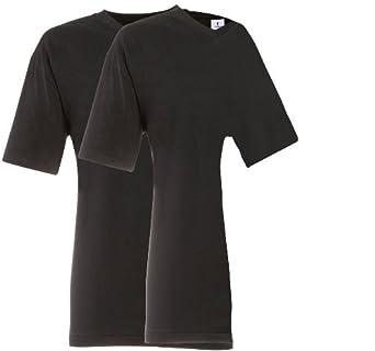 RAGMAN Shirt schwarz im Doppelpack V-Neck, S