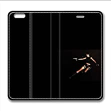 buy Iphone 6 6S Plus Leather Case Pu Material Hard Shell Flip Credit Card Holder Magnetic Stand Video Game Logo Poster Pattern Character Screen Adventure Fighting-Tomb Raider Lara Croft 17