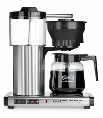 Technivorm Moccamaster Coffee Maker With Glass Carafe Brushed Silver : Moccamaster CD Grand 15-Cup Coffee Brewer with Glass Carafe, Brushed Silver Kitchen Dining Store