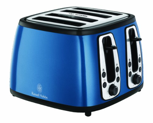 Russell Hobbs 18665 Heritage 4-Slice Toaster, Blue from Spectrum Brands Uk Ltd