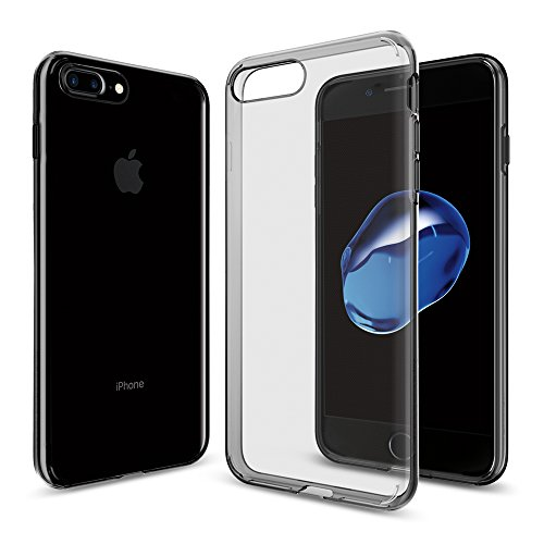 Funda iPhone 7 Plus, Spigen [Liquid Crystal] Funda Claro Cristal [Space Crystal] Ultra fino de primera calidad semitransparente / Ajuste exacto / suave de la caja delgada, Funda Apple iPhone 7 Plus (043CS20855)