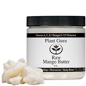 Premium Raw Mango Butter 100% Pure 8 oz. (HDPE Food Grade Jar)