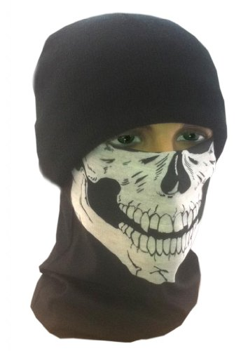Costume Adventure Men's Ghost Call Of Duty Style Tubular Bandanna and Beanie Set