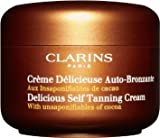 Clarins Delicious Self Tanning Sun Care Cream for Unisex, 4.5 Ounce