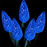 41Ow20smjKL. SL160  Led Christmas Light Bright Blue 70 Count 6C Shape Green Wire