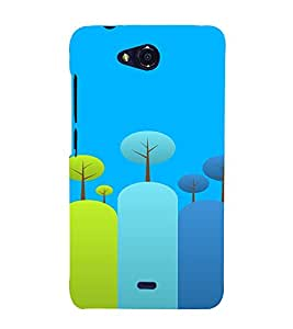 PrintVisa Colorful Tree Design 3D Hard Polycarbonate Designer Back Case Cover for Micromax Canvas Play Q355