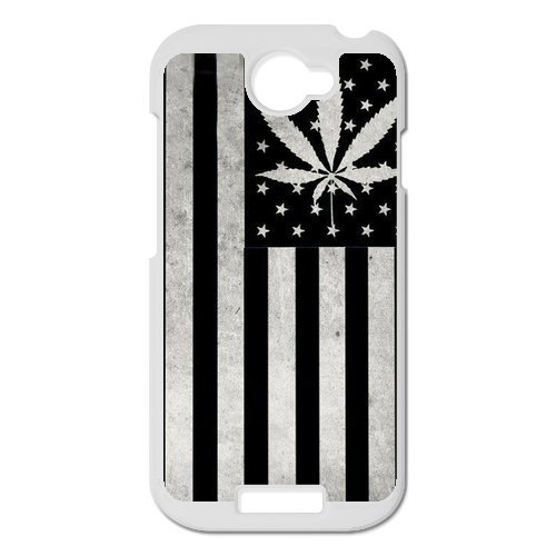 Generic Mobile Phone Cases Cover For Htc One S Case Country American Flag Marijuana Cannabis Weed Hemp Leaf Smoker Design Custom Made Hard Snap On Cell Phones Shell Protect Skin