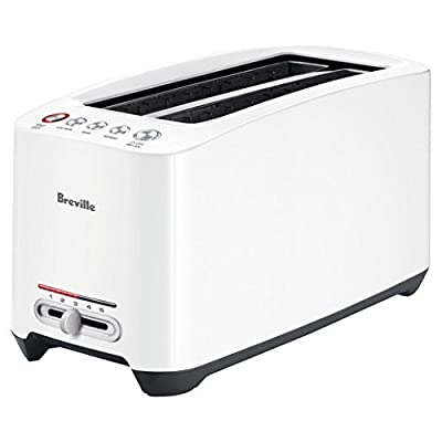 4-Slice Lift and Look Touch Toaster With LED Display, White from Breville