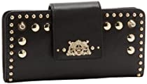 Hot Sale Juicy Couture Continental YSRU2487-1 Wallet,Black,One Size