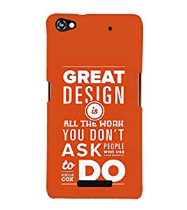 EPICCASE Great Design Mobile Back Case Cover For Micromax Canvas Hue 2 A316 (Designer Case)