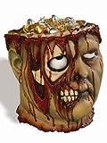 Bleeding Zombie Halloween Trick-or-Treat Bowl For Fancy Dress