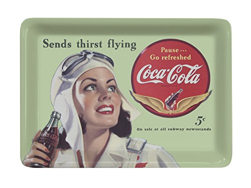 Platex 93111410926 Coca-Cola Plateau-Vide Poche Petit Décor Flying Mélamine 14 x 10 x 1 cm